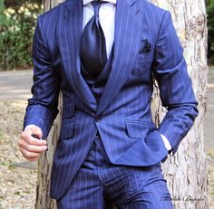 The Pinstripe Suit by Absolute Bespoke / Coupe / Cravate / Couleurs