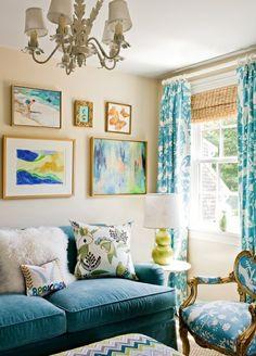 Coolchambre bleu idee deco chambre salon bien aménagée