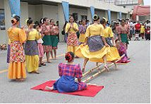 "This dance is called ""Tinikling""derived from the word ""tikling"", a Philippine bird known for its grace and speed in avoiding bamboo traps set up by rice farmers. Pe Lessons, Dance Lessons, Bulletin Board Borders, Filipino Culture, Baguio, Learn To Dance, Talent Show, Dance Fashion, Philippines Travel"