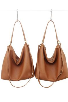 bc529ea0d1 NELA - Leather Hobo Bag (Medium) - TAN