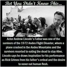Andrew Lincoln fact. Wow! This is amazing! I didn't even know that and I've read the book and seen the movie!