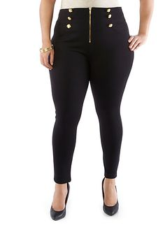 Plus-Size Knit Pants