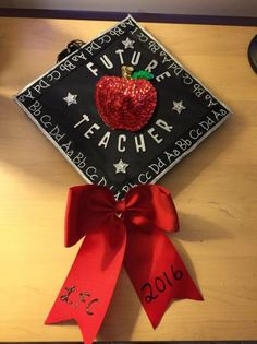 Decorated my cap for graduation. So excited to enter the real world as an elementary teacher! Decorated my cap for graduation. So excited to enter the. Teacher Graduation Party, Funny Graduation Caps, Graduation Cap Designs, Graduation Cap Decoration, Grad Cap, Graduation Pictures, College Graduation, Decorated Graduation Caps, Graduation Centerpiece