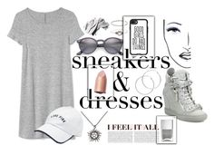 """""""sneakernight."""" by downeastgirl88 ❤ liked on Polyvore featuring Gap, Giuseppe Zanotti, Ray-Ban, Casetify, Victoria's Secret, Accessorize, Melissa Odabash, Nails Inc., Black Magic Lashes and Oris"""