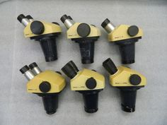 Lot-of-6-Leica-Stereo-Zoom-Microscope-Heads