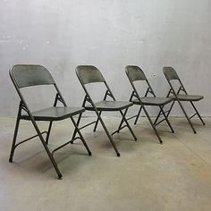 Located using retrostart.com > Folding Dinner Chair by Unknown Designer for Poonam