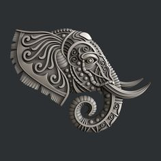 STL models for CNC router or printer elephant - Seramik duvar süsü - Elefante Tribal, Sculpture Art, Sculptures, Stl File Format, Clay Wall Art, 3d Printer Designs, 3d Cnc, Metal Embossing, Modelos 3d