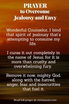 Prayer to Overcome Jealousy and envy
