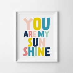 Nursery Wall Art, You Are My Sunshine, Printable Quotes, Kids Room Decor, Nursery Quotes, Instant Download Art, Printable Nursery by ILovePrintable on Etsy https://www.etsy.com/listing/235740440/nursery-wall-art-you-are-my-sunshine