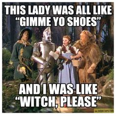 Oz shoe humor