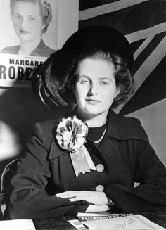 A young Margaret Thatcher : kick-ass woman but I couldn't stand her or her policies. !