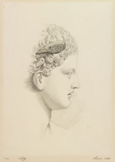 A classical head  dated 1860 by Princess Louise, Duchess of Argyll  Royal Collection