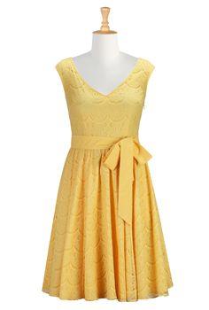 Yellow Lace Bridesmaids Dresses