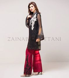 Latest Pakistani Dresses With Bell Bottom Trousers/Pants 2017   BestStylo.com