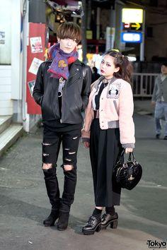 AWESOME style ... Kyon (left) & Yukinn (right) - both 21 years old & models   13 December 2015   #couples #Fashion #Harajuku (原宿) #Shibuya (渋谷) #Tokyo (東京) #Japan (日本)