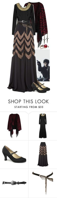 """""""Game of Thrones """"Lady Bolton"""" 3"""" by werewolf-gurl ❤ liked on Polyvore featuring Chicwish, Temperley London, Funtasma, Topshop, Religion Clothing and Tina Tang"""