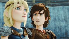 「Dragons Race to the Edge」 Astrid and Hiccup #DreamWorks #Astrid #Hiccup #RttE