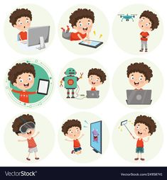 Illustration of cartoon character Premium Vector Children's Playground Equipment, Paper Rockets, Playground Design, Children Playground, Internet Icon, Toddler School, Kids Schedule, Digital Tablet, Vector Free