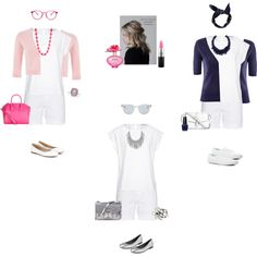 White blouse/white shorts 2 by tracy-gowen on Polyvore featuring мода, Hahn, H&M, True Religion, Chloé, Keds, Stuart Weitzman, Givenchy, Proenza Schouler and L.K.Bennett