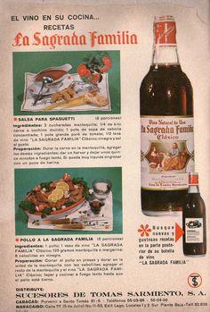 Vino La Sagrada Familia. Ad from 1967.