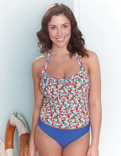 I love this cute tankini and plain brief from Freya Valentine. Perfect for being around the pool side.