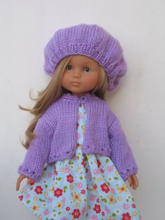 Corolle Les Cheries Doll Cardigan and Hat by PachomDollBoutique, $18.99