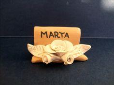 The placeholders in #terracotta for the Holidays http://ceramicamia.blogspot.it/2010/11/decorazioni-ceramiche-i-segnaposti-in.html