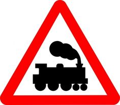 Although it has something to do with a train by the picture, I'm not sure what it means regarding the train. Is there a train track ahead? A train road? A place with trains? Thomas Birthday Parties, Thomas The Train Birthday Party, Trains Birthday Party, Train Party, 3rd Birthday, Zug Party, Sign Image, Thomas And Friends, Decoration