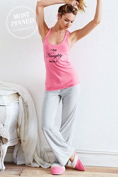 Naughty AND nice. That's how we roll. | Victoria's Secret Pillowtalk Tank Pajama