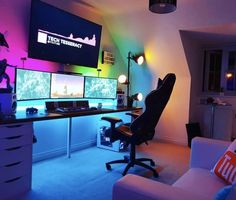 Ultimate Gaming Room, Best Gaming Setup, Gaming Room Setup, Pc Setup, Gamer Setup, Computer Gaming Room, Computer Setup, Gaming Desktops, Gaming Pcs