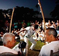 Capoeira on Trancoso's Quadrado. Bahia, Brazil
