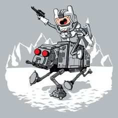 Adventure Time + Star Wars = pure awesomeness<3