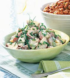 Potato and Pea Salad with Chive Aioli