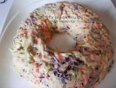 My travels: Salad with Cabbage, Yogurt and . Greek Recipes, Desert Recipes, Light Recipes, Xmas Food, Christmas Cooking, Cyprus Food, Dips, Cabbage Salad, Salad Bar
