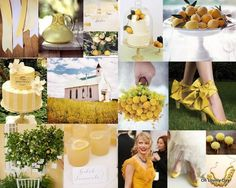 lemon yellow + white