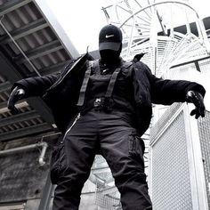 Edgy Outfits, Grunge Outfits, Grunge Fashion, Cyberpunk Clothes, Cyberpunk Fashion, Tactical Wear, Style Japonais, Korean Girl Fashion, Japan Fashion