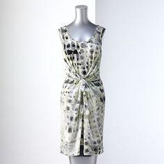 Simply Vera Vera Wang Crocodile Chiffon Overlay Dress