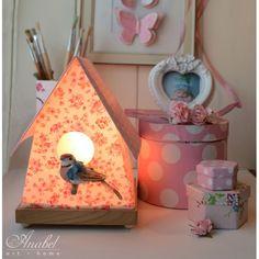 Lámpara Casita pájaros - Tienda Virtual Birdhouse lamp - Online shop