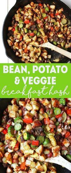 Bean, Potato, & Veggie Breakfast Hash | Healthy Vegan Breakfast Recipe