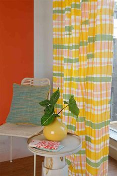 With a symphony of gradients flowing into each other a classic asymmetrical curtain design will surely add warmth and playfulness to a modern living room. Sheer Drapes, Cotton Curtains, Sheer Fabrics, Panel Curtains, Large Furniture, Furniture Design, Latest Curtain Designs, Extra Long Curtains, Sage Color