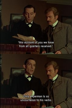 Jeremy Brett as Holmes Jeremy Brett Sherlock Holmes, Sherlock Holmes Quotes, Adventures Of Sherlock Holmes, Sherlock Bbc, A Scandal In Bohemia, Old Film Stars, Grand Admiral Thrawn, Famous Detectives, Dr Watson