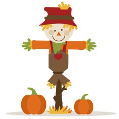50 cents---Scarecrow With Pumpkins SVG cutting file fall svg cut files autumn svg cutting files Dulceros Halloween, Moldes Halloween, Glam Planner, Fall Clip Art, Fall Scarecrows, Halloween Door Decorations, Scrapbook Embellishments, Happy Fall, Witches