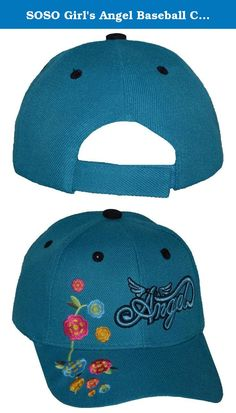 SOSO Girl's Angel Baseball Cap Teal. We promises to deliver quality products at a truly affordable price. This stylish cap is suitable for both casual & formal wear. It is perfect gift for a friend.