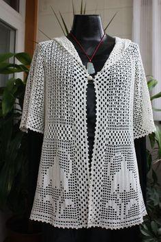 Image gallery – Page 294493263125151114 – Artofit Diy Crochet Bag, Crochet Coat, Crochet Shirt, Crochet Cardigan, Thread Crochet, Crochet Clothes, Fillet Crochet, Pullover, Hoody