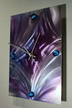 Wilmos Kovacs Modern Art Decor Metal Wall Sculpture Painting Unique Clock W737   eBay