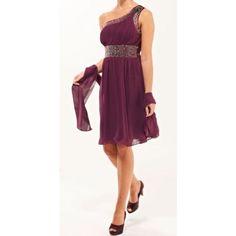Era Boutique Eva Short Evening Dress - Plum  Sizes From UK6 - UK28 Our Price From £89.99