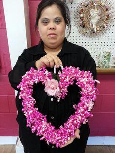 Ribbon Heart  Wreaths by LFDSIStore on Etsy