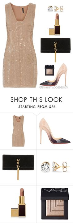"""Untitled #1657"" by dnicoleg ❤ liked on Polyvore featuring W118 by Walter Baker, Christian Louboutin, Yves Saint Laurent, Tom Ford and NARS Cosmetics"