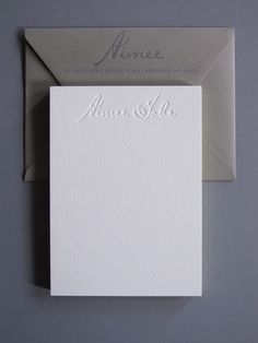 I do love a nice blind emboss.  Aimee Jobe Business Stationery, by Thomas Printers.