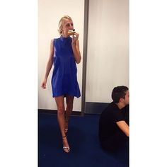 doughnuts make me go nuts   blue leather  my dress was made by @valentimes #Padgram